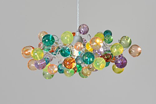 Colorful Bubbles Lamp Shade - Handmade Hanging Lights - Ceiling Light for Kids Bedroom, Living Room - Unique Decorations for Home & Kitchen - Cool Gift Ideas - 1