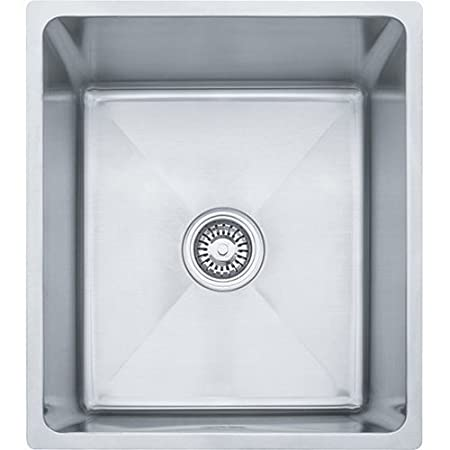 Franke PSX1101610 Professional 17-Inch Deep Single Bowl Undermount Kitchen Sink