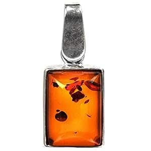 Amber by graciana pendentif pour femme en argent sterling 925 petit rectangle 09479 les plus