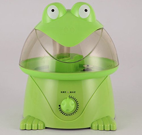 Cartoon Frog Shape Aromatherapy Humidifier Ultrasonic Mist Air Purifier for Office Home GREEN