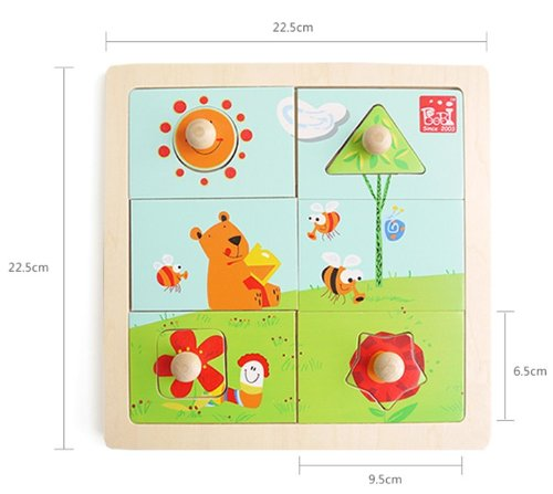 Children Gift - Olina Deluxe Wooden Multilayer Jigsaw Puzzle --- Bees Home Daytime - 1