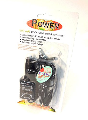 Auto Car Cigarette Lighter Adapter Dc - Dc Converter 500 Ma Electric Power Charger