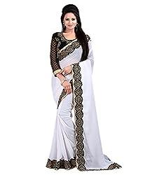 SRP Fashion Selection Women's Chiffon Saree (SRP-OF93,White)