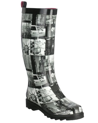 Fashion Combat Boots Cheap on New York Shiny Snapshots Nyc Destination Ladies Rain Boot   Boots
