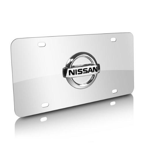 Nissan 3D Logo Stainless Steel Chrome Steel License Plate (Nissan Chrome License Plate compare prices)
