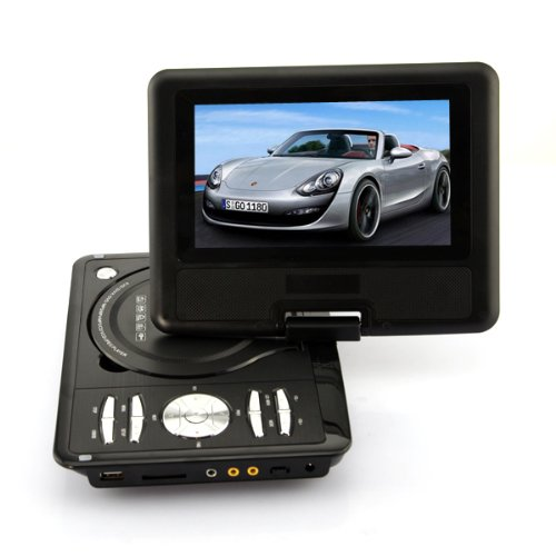 """DB Power Hot Sale 7.5"""" Portable Video Travel DVD Player, Swivel Free Game/Remote Control (black) at Sears.com"""