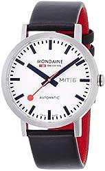 Mondaine Men's A132.30359.16SBB Analog Display Swiss Automatic Black Watch
