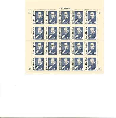 Johns Hopkins Sheet of 20 x 1 Dolar US Postage Stamps NEW Scot 2194