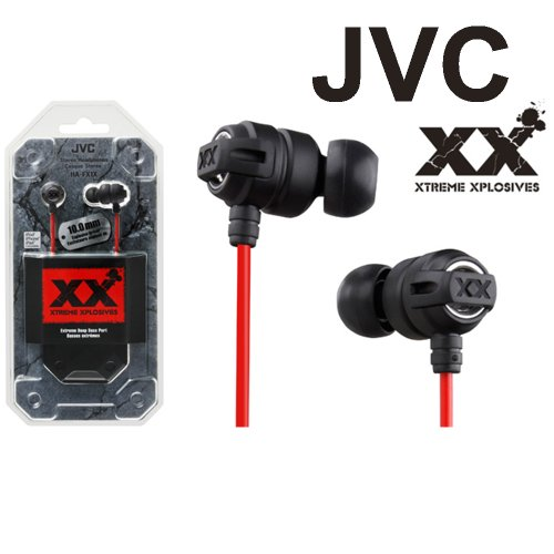 Jvc 3.5Mm In Ear Headphones Ha-Fx1X Xtreme Xplosives Bass Stereo Earphone Black New