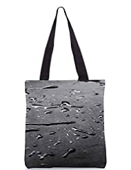 Snoogg Drops Texture Poly Canvas Tote Bag