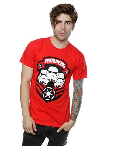 Star Wars Uomo Stormtrooper Troopers Maglietta X-Large Rosso