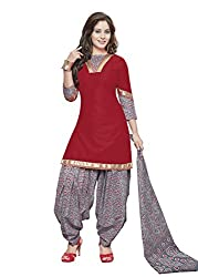 Gugaliya Women's ROYAL CLASS Premium CELEBERATION Series 100 % Cotton UNSTICHED Salwar, Kameez & Dupatta Suit (Baalar 411)