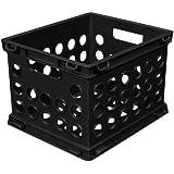 Sterilite 16959012 Mini Crate, Black, 12-Pack