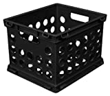 Sterilite 16959012 Mini Crate Black 12 Pack