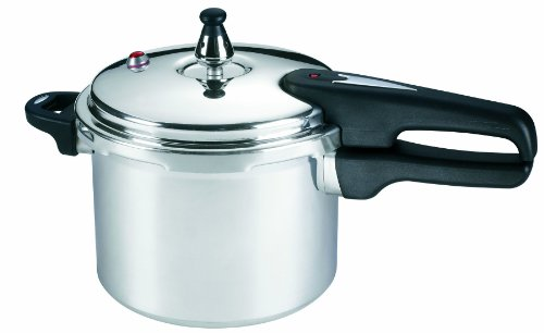 Mirro 92140A Polished Aluminum Dishwasher Safe PFOA Free Pressure Cooker Cookware,  4-Quart, Silver