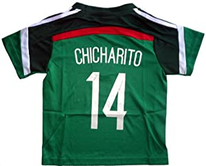Buy 2014 MEXICO HOME CHICHARITO 14 FOOTBALL SOCCER KIDS JERSEY by MEX