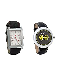 Gledati Men's White Dial And Foster's Women's Grey Dial Analog Watch Combo_ADCOMB0001792
