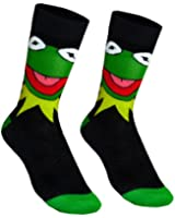 The Muppets Kermit Official Gift 1 Pair Mens Dress Socks Black