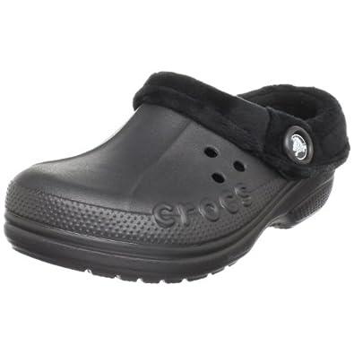 Crocs Polar Blitzen Clog (Toddler/Little Kid),Black/Black,2 M US Little Kid/ 4 M US Women's