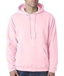 Jerzees Men\'s 8 oz NuBlend 50/50 Pullover Hoodie Sweatshirt 996 pink Large