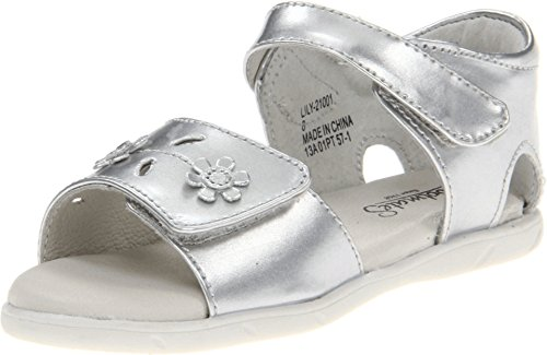 Footmates Baby Girl'S Lilly (Infant/Toddler) Silver Patent Sandal 7 Toddler M front-1066163