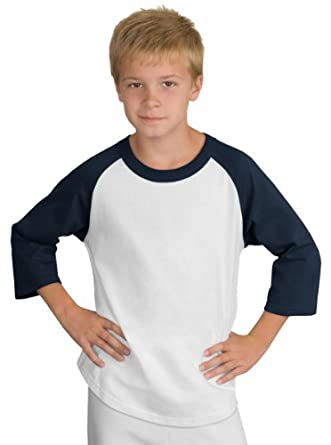 Buy Sport-Tek T200 YT200 - Raglan 3 4 Sleeve 100% Cotton Baseball Tee Shirt by Sport-Tek