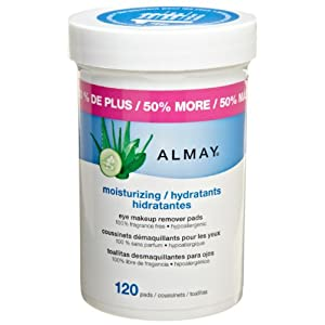 Almay Moisturizing Eye Makeup Remover Pads, 120 Pads