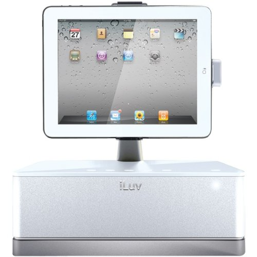 IPAD(R)/IPOD(R)/IPHONE(R) SPEAKER WITH ROTATING DOCK (WHITE) (Catalog Category: SPEAKERS / ACCESSORIZE YOUR APPLE)