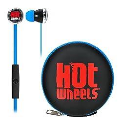 Hot Wheels Earphones with Mic & Case