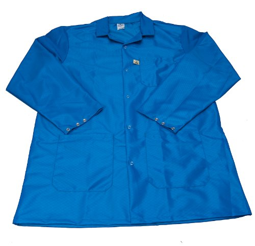 """ESDProduct ECX-500 Fabric Jacket with 3 Pockets, 3/4"""" Thick, X-Large, Blue"""