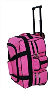 Womens And Mens Girls Pink Twin Handle Wheeled Holdall 18 47cm X 27cm X 25cm Stylish Onboard Hand Luggage Cabin Holdall Wheeled Travel Bag Suitcase Suitable For Ryanair Easyjet Bmi Ba Virgin 47 X 27 X 25 Cm Due To Its Lightweight Construction And Sensible