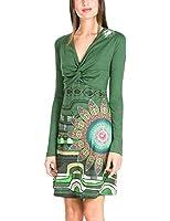 Desigual Women's A-line Printed Long sleeve Dress