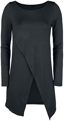 Forplay Long Asymetric Longsleeve Manica lunga donna nero XXL