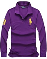 Polo Ralph Lauren Men's Long Sleeve Shirt with Big Pony (U.S. Standard Sizes)