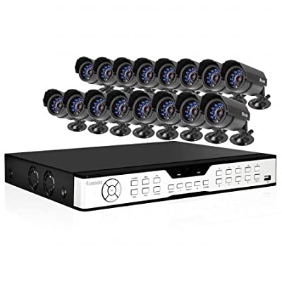 Zmodo 16CH Surveillance CCTV DVR System + 16 Outdoor Weatherproof IR Security Camera -1TB Hard Drive