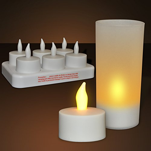 Rechargeable Flameless Led Tea Light Candle Set