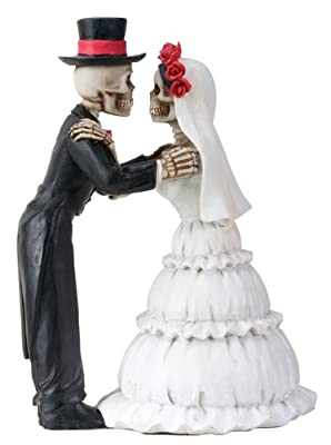 Day of the Dead DOD Skeleton Wedding Couple The Kiss Statue Figurine from YTC Summit