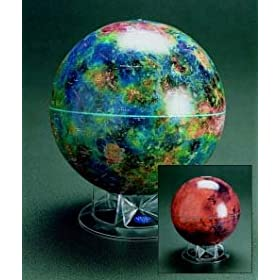 "Venus Globe - 12"" With Clear Acrylic Stand"