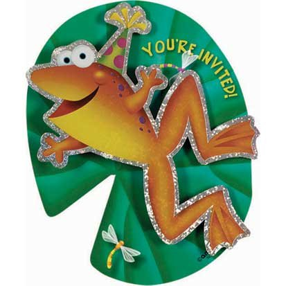 Fun Frog Invitations 8ct - 1