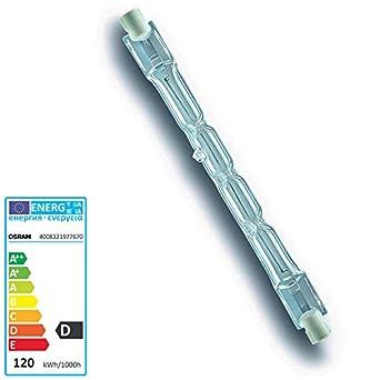 Halogenstab 105 Watt Dimmbar R7S Sockel 1900 Lumen 118 mm