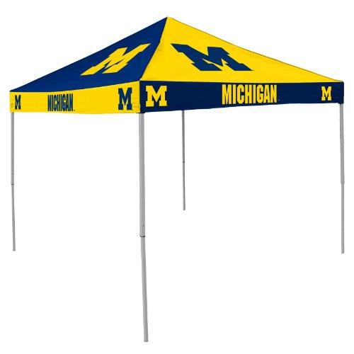 Ncaa Michigan Wolverines 9-Foot X 9-Foot Pinwheel Tailgating Canopy, Navy/Yellow front-41383