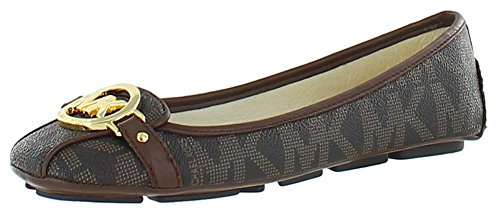 Michael Kors Fulton Moccasin Women'S Leather Flats Brown Size 9