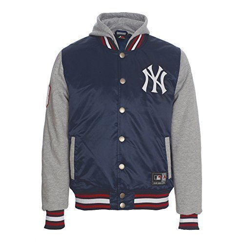 MAJESTIC GIUBBOTTO CON CAPPUCCIO MIX NEW YORK YANKEES BLU (S)