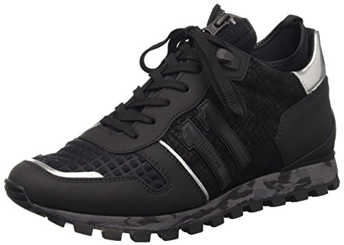 Bikkembergs Numb-Er 722 Mid Shoe M Leather/Lycra, Scarpe Low-Top Uomo, Nero, 42 EU