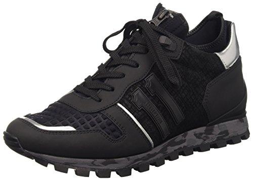 Bikkembergs Numb-Er 722 Mid Shoe M Leather/Lycra, Scarpe Low-Top Uomo, Nero, 42 EU