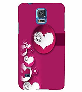 PrintVisa Romantic Love Hearts 3D Hard Polycarbonate Designer Back Case Cover for Samsung Galaxy S5