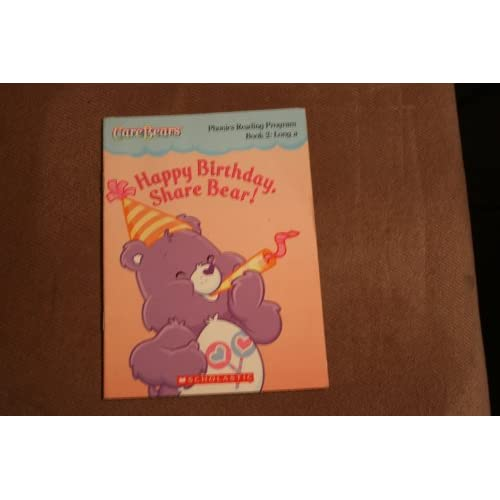 Happy Birthday Share Bear Care Bears Phonics Reading