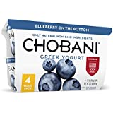 Chobani Greek Yogurt, Blueberry,  5.3 oz, 4 Pack