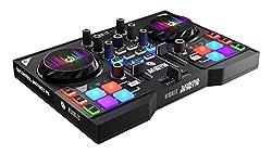 Hercules DJ DJControl Instinct P8 Dual-Deck DJ Controller, Black
