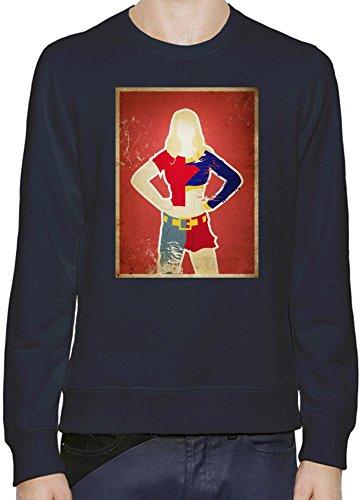 Supergirl Illustration Pullover Uomini Donne XX-Large